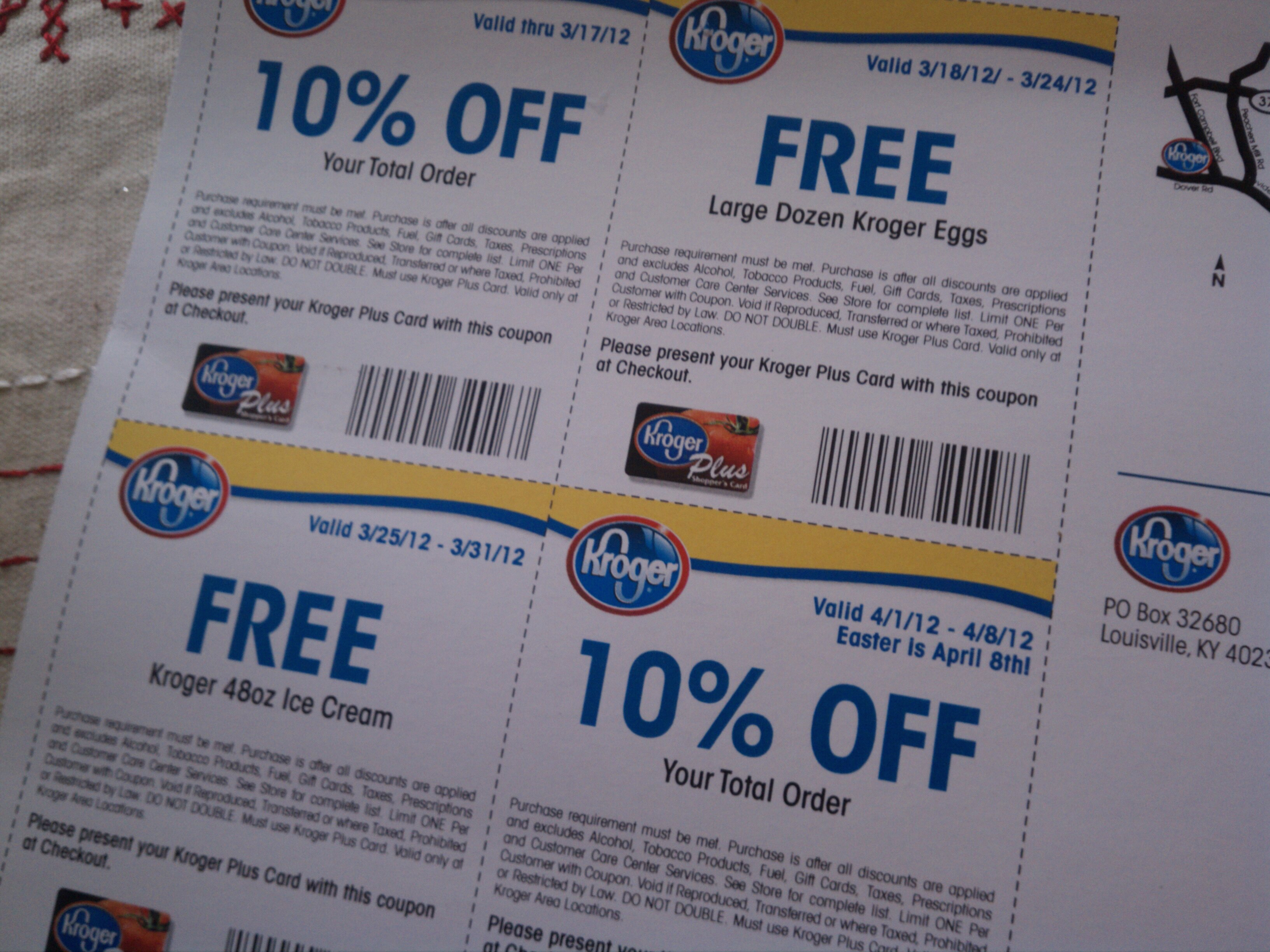 How do you get kroger coupons in the mail